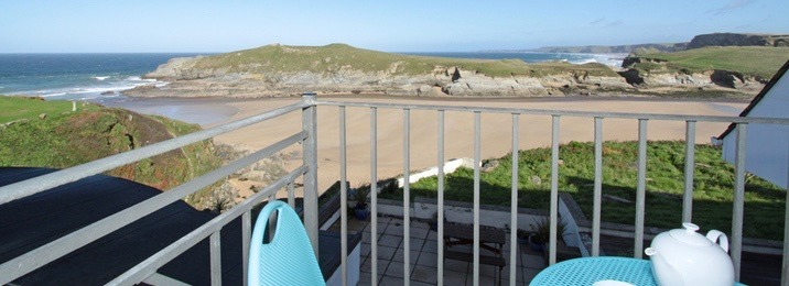 Enjoy sea views in Newquay